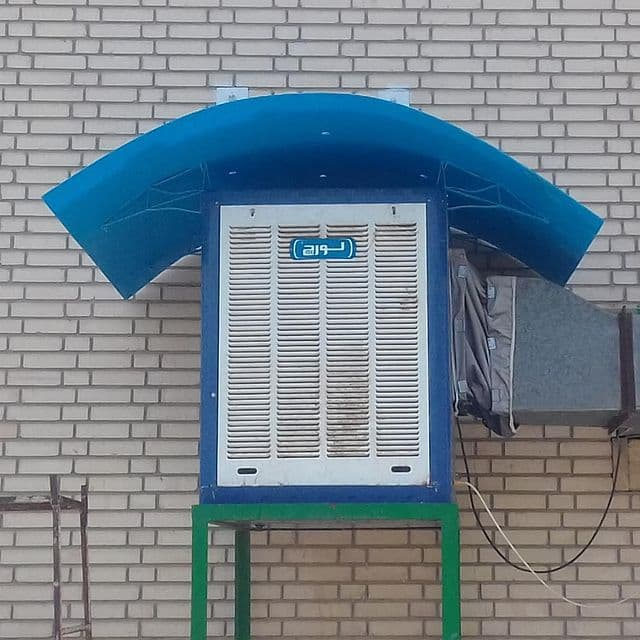 سایه بان کولر با سقف قابل تنظیم